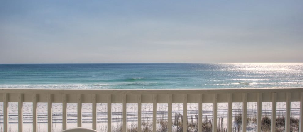 View from our Sunchase Condo rental in Destin FL.
