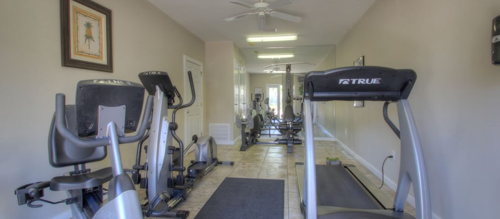 Find Destin vacation rentals with fitness room.