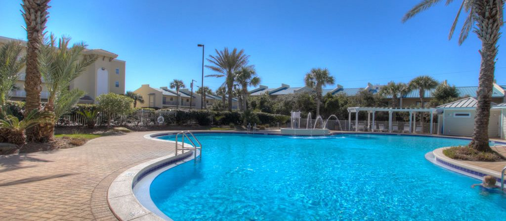 A photo of our beachside pool.