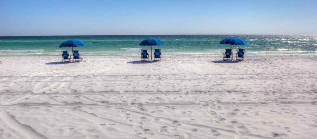 You get two beach chairs and an umbrella with every condo.