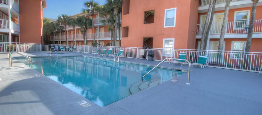 Gulfview has lots of amenities -- this is one of the two pools.