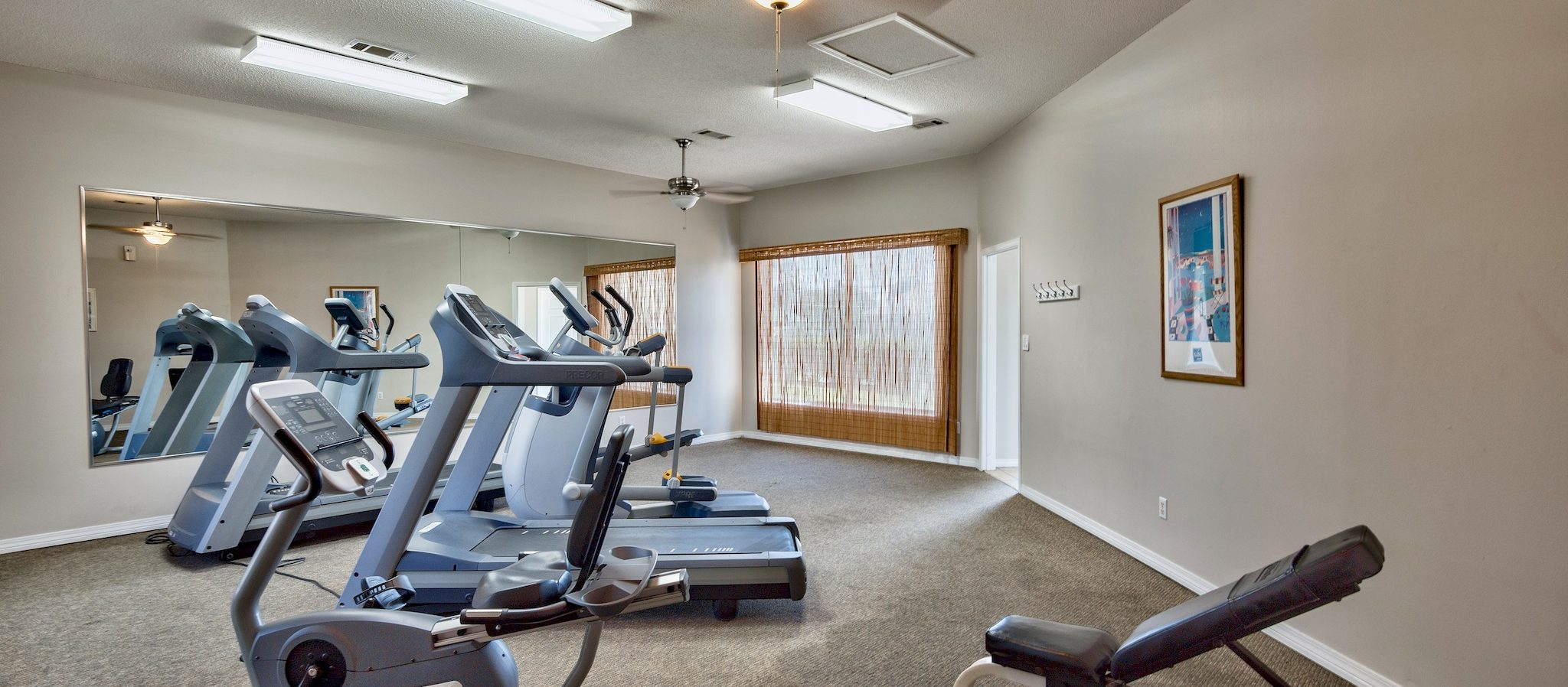 Another view of the fitness center.